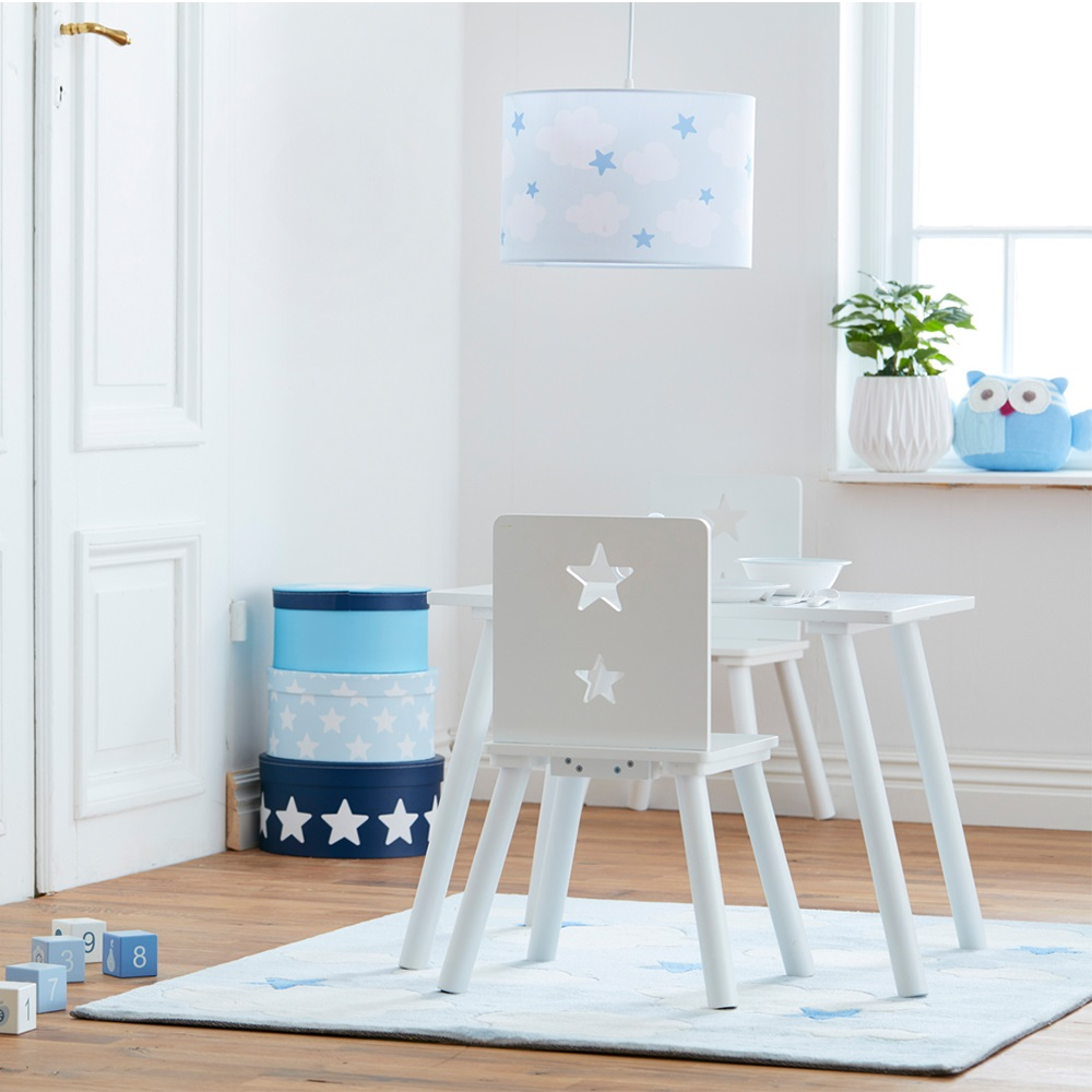 Star kids wooden chair in white kids concept cuckooland for Quality white bedroom furniture