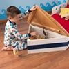 Boat Bed for Boys with Storage in Bow