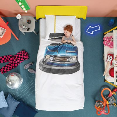 Snurk Childrens Bumper Car Duvet Bedding Set