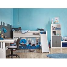 knight boys cabin bed with slide lifetime cuckooland. Black Bedroom Furniture Sets. Home Design Ideas