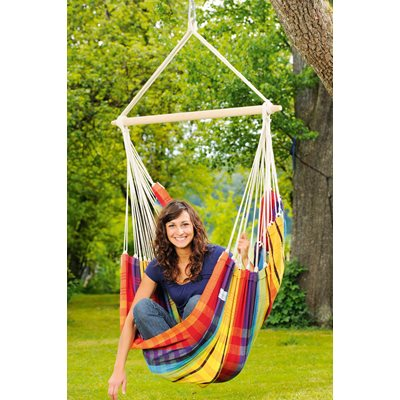 BRASIL HANGING CHAIR HAMMOCK in Rainbow