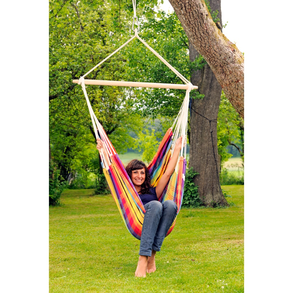 brasil hanging chair hammock in rainbow garden furniture cuckoolan. Black Bedroom Furniture Sets. Home Design Ideas