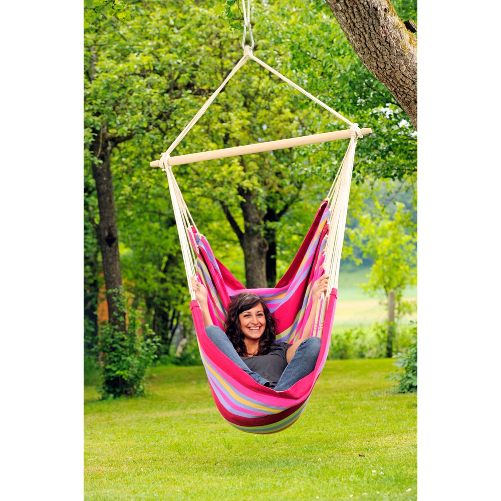 brasil hanging chair hammock in grenadine garden. Black Bedroom Furniture Sets. Home Design Ideas