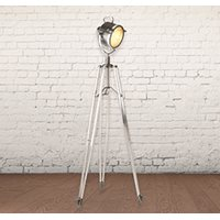 TWO TONE INDUSTRIAL TRIPOD FLOOR LAMP