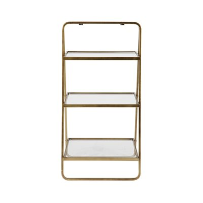GODDESS TIERED SHELVING UNIT with Glass Shelves