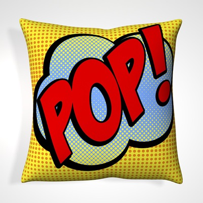 CUSHION in Retro Pop Design