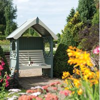 ROWLINSON BRITANNIA ARBOUR Painted in Willow Green & Elderflower Cream