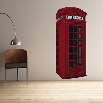 WALL STICKER in 'British Phone Box' design