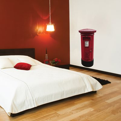 WALL STICKER in 'British Post Box' design