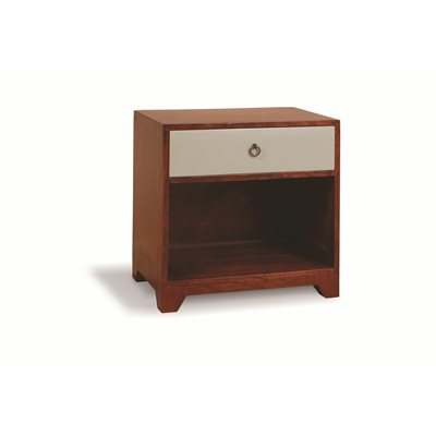BRITISH VINTAGE SIDE TABLE in English Cherry Finish