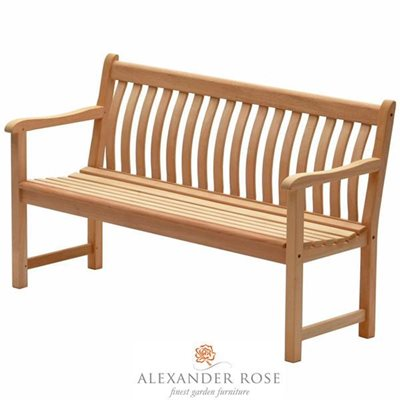 MAHOGANY BROADFIELD 5FT BENCH by Alexander Rose