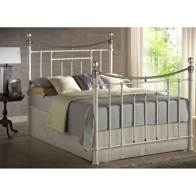 BRONTE METAL BED in Cream by Birlea