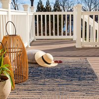 Product photograph showing Fab Hab Brooklyn Outdoor Rug In Blue