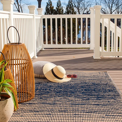 FAB HAB BROOKLYN OUTDOOR RUG in Blue