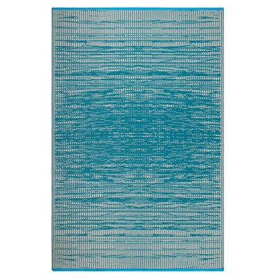 Fab Hab Brooklyn Outdoor Rug in Teal