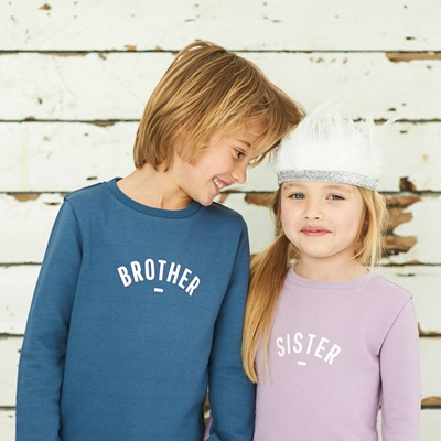 BOB & BLOSSOM BROTHER SWEATSHIRT in Denim Blue
