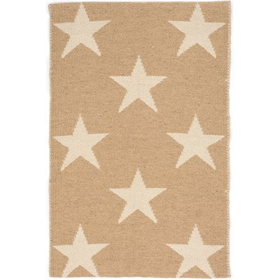 INDOOR OUTDOOR STAR RUG in Camel Ivory