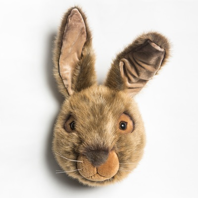 Lewis the Hare Kids Plush Animal Head Wall Decor