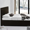 Contemporary Brown Faux Leather Bed Frame