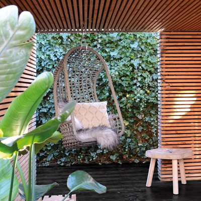 OUTDOOR HANGING EGG CHAIR in Brown
