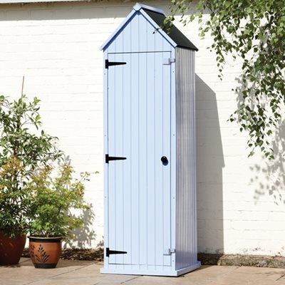 BRIGHTON GARDEN SHED in Pastel Blue