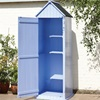 Brighton Garden Shed in Blue with Storage Shelves