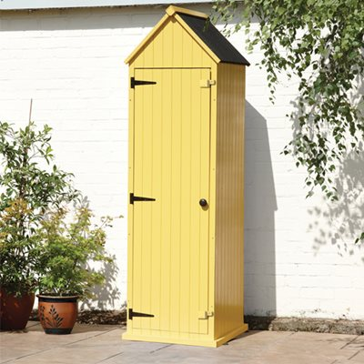 BRIGHTON GARDEN SHED in Pastel Yellow