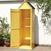 New Brighten Garden Shed in Yellow with Storage Shelves