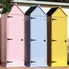 Colourful Brighton Garden Sheds at Cuckooland