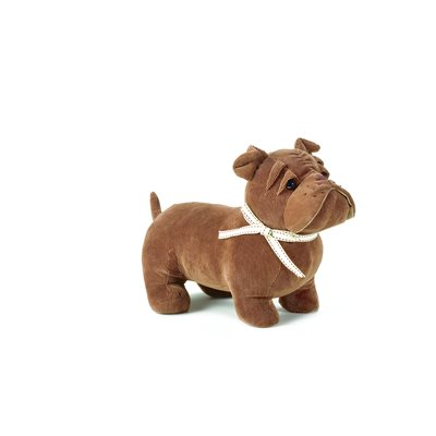 BRUNO THE BULLDOG Dog Animal Doorstop by Dora Designs