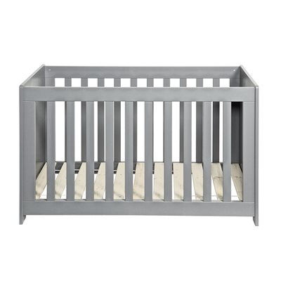 New Life Baby Cot in Brushed Concrete Grey by Woood