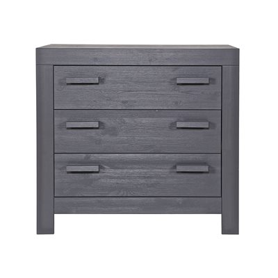 NEW LIFE CHEST OF DRAWERS in Brushed Steel Grey by Woood