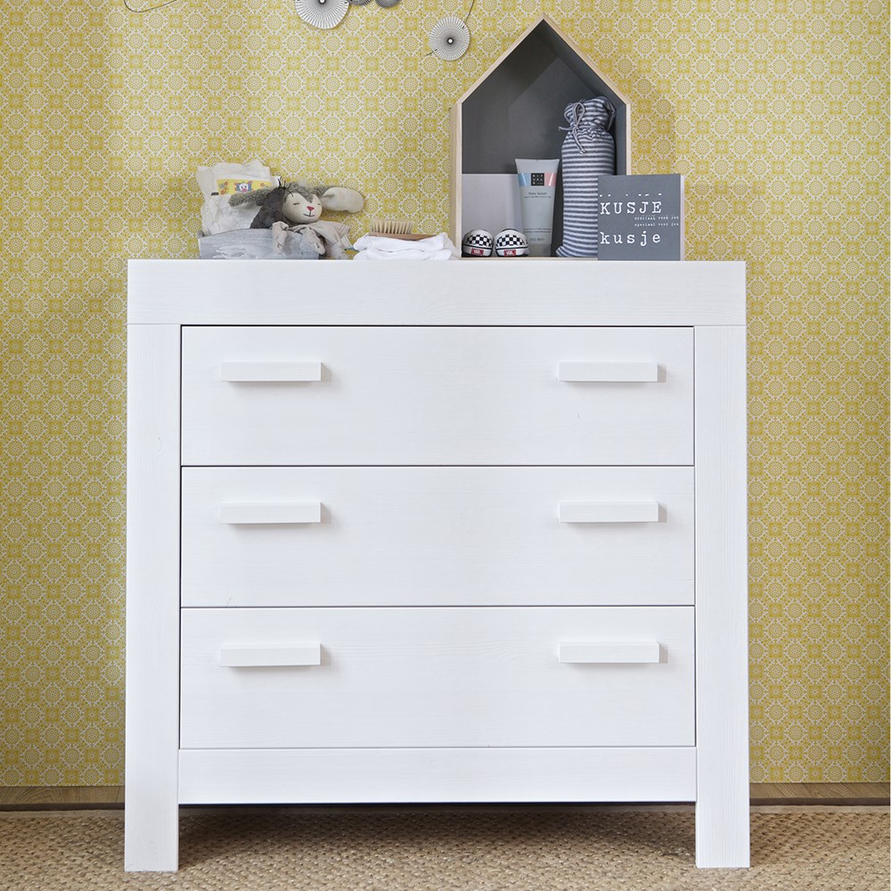 New Life Chest Of Drawers In Brushed White By Woood