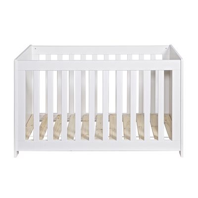 NEW LIFE BABY COT in Brushed White