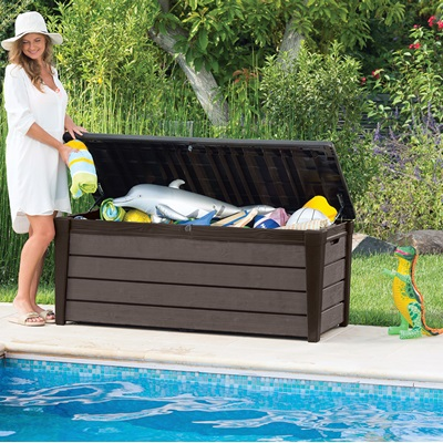 BRUSHWOOD OUTDOOR STORAGE BOX in Dark Brown