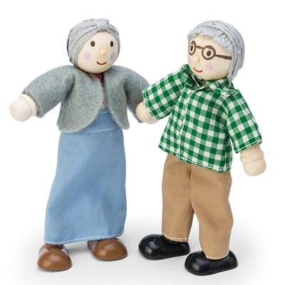 LE TOY VAN GRANDPARENTS DOLLS HOUSE FIGURES SET