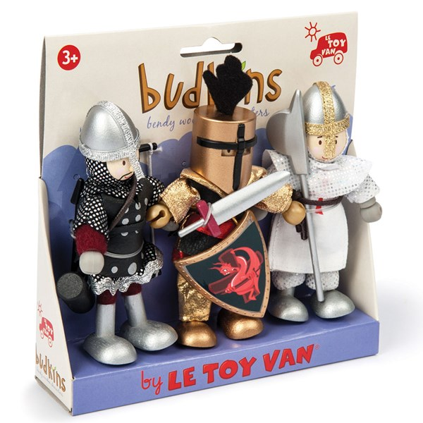 Le Toy Van Budkins Knights Set of 3