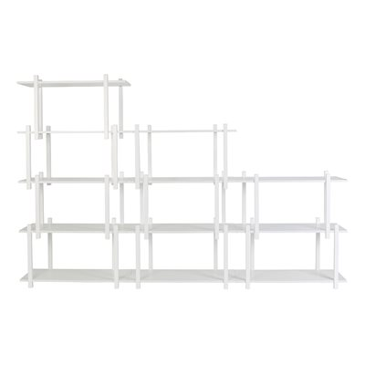 ZUIVER WOODEN SHELVING UNIT in White