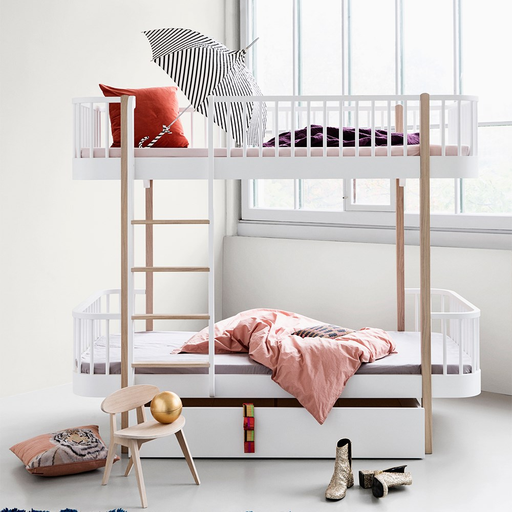 best website c2b0a c3339 Oliver Furniture Wood Children's Luxury Bunk Bed in White & Oak