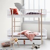 Contemporary Kids Bunk Bed in White and Oak