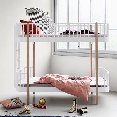 CHILDREN'S LUXURY BUNK BED in White & Oak