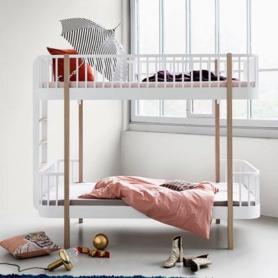 Childrens Luxury Bunk Bed In White U0026 Oak   Bunk Beds Cuckooland