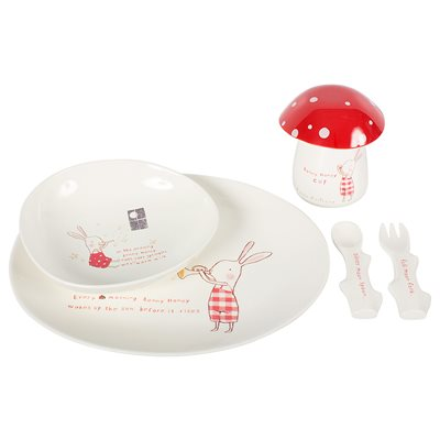 BUNNY HONEY KIDS MELAMINE DINNER SET