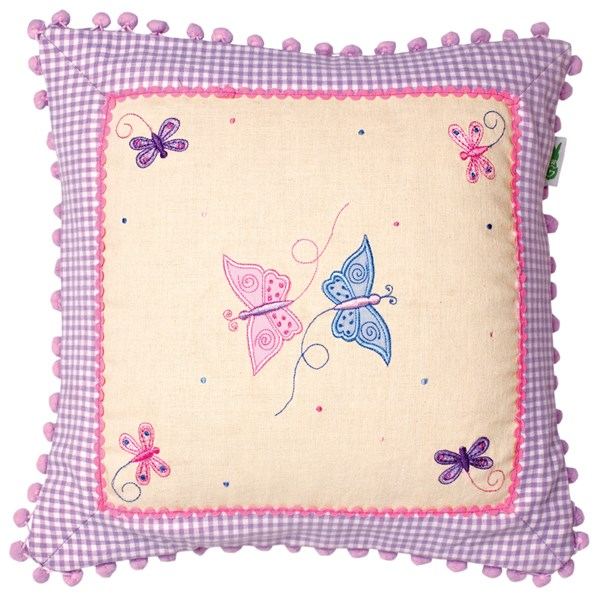 Butterfly Cushion Cover by Win Green