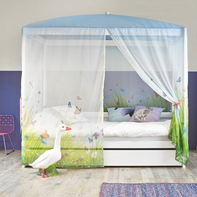 BUTTERFLY LUXURY 4 POSTER GIRLS BED
