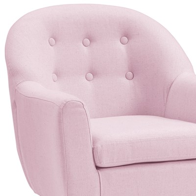 ... Button Detail Pink Armchair ...