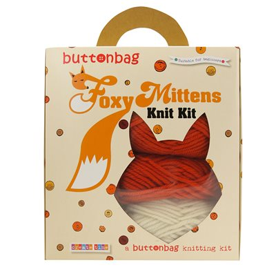 BUTTONBAG FOXY MITTEN KNITTING KIT