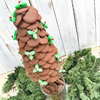 Unique Edible Christmas Tree Made of Chocolate Buttons