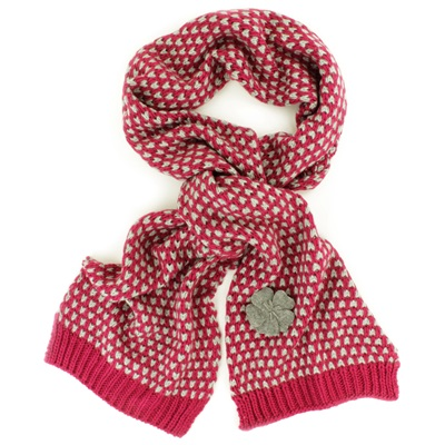CAMILLE SCARF in Berry and Grey
