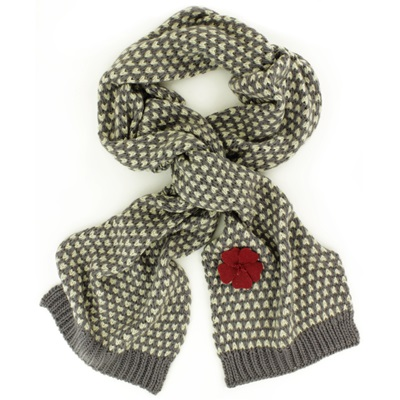 CAMILLE SCARF in Charcoal and Cream